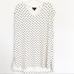 White Tunic Top J. Jill Wear Wearever Collection